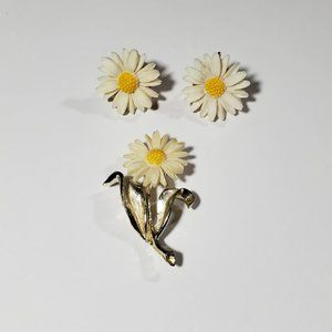 Sarah Coventry Light & Bright Daisy Brooch Set